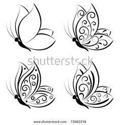 Find Butterfly Vector Set stock images in HD and millions of other royalty-free stock photos, illustrations and vectors in the Shutterstock collection. Thousands of new, high-quality pictures added every day. Butterfly Drawing, Butterfly Nail, Butterfly Tattoos, Butterfly Design, Butterfly Outline, Butterfly Photos, Butterfly Wings, Flower Tattoos, Nail Art Papillon