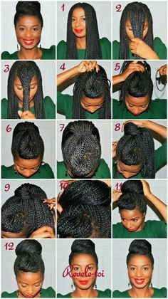 Box braids How to. Going to try this with just my natural hair