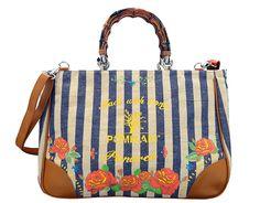 Beach bags, la borsa Brigitte di Pomikaki è dedicata a Panarea, Capri e Portofino.