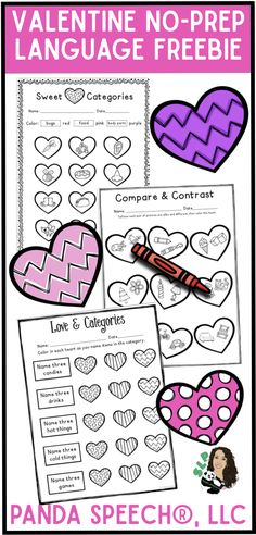Valentine's Day Freebie for speech therapy!