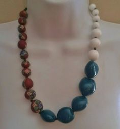 Triple Tone Elegance Chunky Statement Necklace  | BlueRidgeDiva - Jewelry on ArtFire