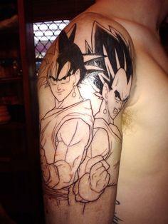 Goku and vegeta. Dragon ball z tattoo