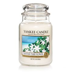 Tahitian Tiaré Flower: Yankee Candle:  Reminiscent of sweet gardenias . . . love blooms in the hypnotic fragrance of this snowy white flower.