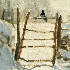 Claude Monet (1840-1926) The Magpie(detail)