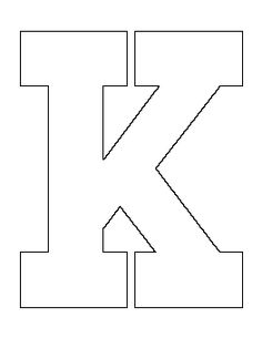 letter i template