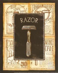 Grooming Razor Print by Charlene Audrey at eu.art.com