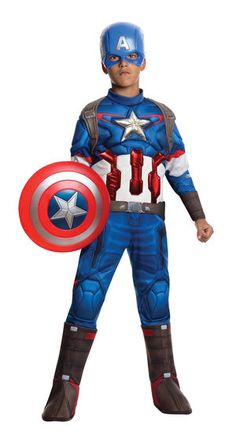 Captain America Deluxe - Avengers 2: Age of Ultron Boy's Costume
