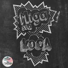 Miga sua loca! Estou treinando chalkboard na mesa, ai parei tudo porque resolvi testar como fica no digital e ai está o resultado ❤️ . Gostaram?? Eu amei o sketchbook e a caneca  .  Fiquem tranquilos que daqui a pouco eu volto pra mesa de novo.  #typespire #goodtype #thedailytype #thedesigntip #handlettering #lettering #typography #calligraphy #typeveryday #handmadefont #letter #words #design #handmade #byalinealbino #chalkboard #chalk #migasualoca #amigasualouca #migasualouca