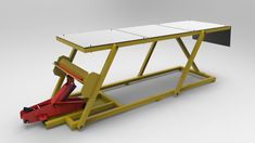 Homemade cheap motorcycle assembly table - STEP / IGES - 3D CAD model - GrabCAD