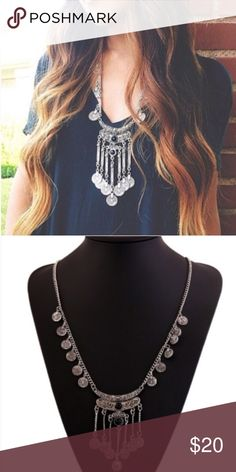 Boho Necklace Gorgeous Boho Necklace Vintage Looking Style in Silver!! Wear with a Tshirt or Dress it up and either way it will Look Great!! Jewelry Necklaces