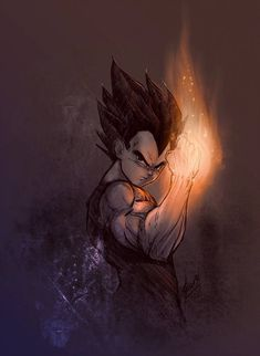 DB inspired art Vegeta illustration and painting style reference Dragonball Anime, Dragonball Super, Dragon Ball Gt, Anime Kunst, Anime Art, Goku E Vegeta, Son Goku, Dragonball Evolution, Digital Foto