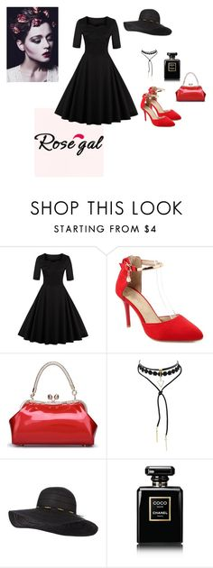 """""""Win $20 Cash from Rosegal!"""" by pegiiisu ❤ liked on Polyvore featuring Chanel, vintage, fashionset and rosegal"""