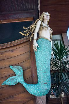 Mermaid Ship's figurehead by Grodenaue Magical Creatures, Fantasy Creatures, Sea Creatures, Mermaid Board, Mermaid Pics, Ship Figurehead, Mermaid Sculpture, Mermaid Artwork, Old Sailing Ships