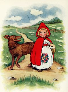 Story Book Sundays - Little Red Riding Hood - Illustration by Mary LaFetra Russell C.hedgehogstudios