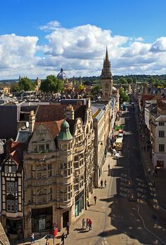 High Street seen from Carfax Tower in Oxford...