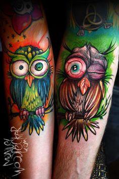 Tattoo-Foto: Partner-Eulen
