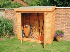 Small shed...I wonder if this could fit in our garden on the south side of the house? #metalgardensheds