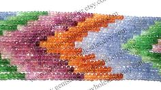 A quality Multi Faceted Roundel / 3.7 to 4.5 by GemstoneWholesaler