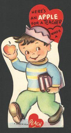 teacher vintage valentine