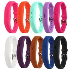 """Bemorcabo Replacement Bands for 2016 Fitbit Flex 2, Classic Silicone Watch Band Design, with Metal Buckle and Fasteners, Fitness Accessories, 10 Colors Available. Fitbit Flex 2 Band, only fit for 2016 Fitbit flex2, replacement bands only, no tracker included. Comfortable Material, made of TPU+TPE, soft touch feeling, comfortable and durable for long time wearing. Fit for 6""""-8.5"""" wrist circumference, 10 colors for choice, create a quintessentially classic look, meet your needs for matching..."""