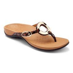 8af42e202b142 Vionic Karina  The Karina toe-post sandal features adjustable leather straps