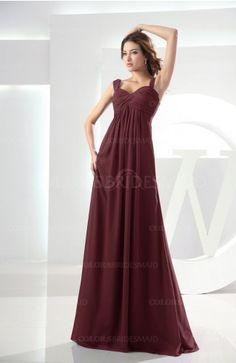 8233585564b Burgundy Modest Empire Thick Straps Zipper Floor Length Ruching Prom Dresses  Cream Bridesmaid Dresses