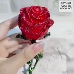 🎁A nice choice for Birthday, Anniversary and act as Daily Surprise Gift🍻To Love & Friendship. Surprise Rose Gift Box, Give Your Love A Big Surprise! gifts Women's Favorite Silver Clover Necklace Red Necklace, Necklace Types, Silver Necklaces, Silver Jewelry, Gold Bracelets, Crystal Necklace, Ladies Necklace, Summer Necklace, Cute Necklace
