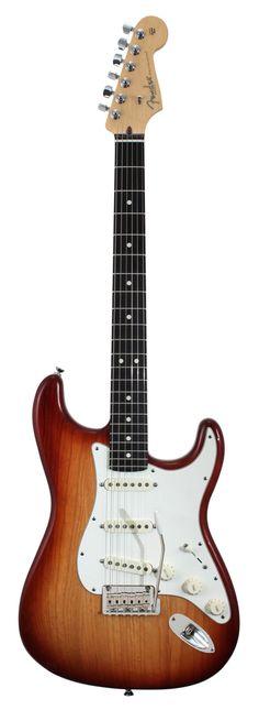Fender 2014 American Standard Stratocaster Sienna Sunburst.  Almost my favorite....except mine has a humbucker in the bridge.