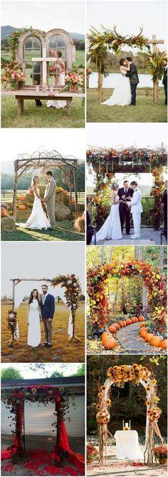 Weddings Arch 36 Fall Wedding Arch Ideas for Rustic Wedding Wedding Ceremony Ideas, Fall Wedding Arches, Wedding Arch Rustic, Outdoor Ceremony, Trendy Wedding, Perfect Wedding, Dream Wedding, Wedding Day, Autumn Bride