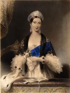 Queen Victoria commissioned the necklace & earrings from Garrard in 1858. Description from pinterest.com. I searched for this on bing.com/images