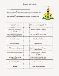 Worksheet Faith Worksheets faith quests lessons worksheets etc children bible i found this wonderful behavior in mass worksheet from thedivinemercy org but