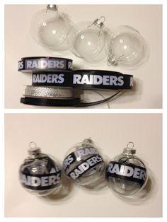 Raiders Christmas ornaments