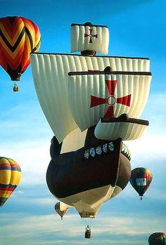 Santa Maria Hot Air Balloon, posted by Marilyn's Favorite Songs via Facebook.com
