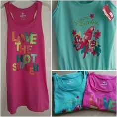 BNWT girls sleeveless summer t-shirt dress  Size 8-14years £6.99