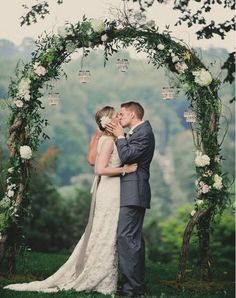Weddbook ♥ Wedding ceremony is the most precious and desirable day to any couple's life.This couple say their I-do's in this angelic wedding site below the wedding arbor and floral arch promising to be together always. Wedding Arbors, Wedding Ceremony Backdrop, Arch Wedding, Wedding Arch Greenery, Rustic Wedding, Wedding Entrance, Wedding Church, Wedding Bride, Wedding Dresses