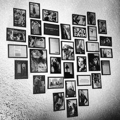 Fotolijstjes in de vorm van een hart <3