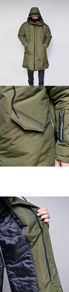 Outerwear :: Side Zip Long Hood Padding-Parka 76 - GUYLOOK Men's Trendy Fashion Clothing Online