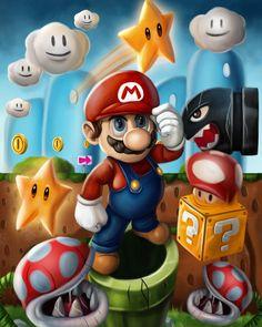 61 ideas for mario games illustration Super Mario Games, Super Mario Art, Super Mario World, Super Mario Brothers, Mario E Luigi, Nintendo World, Mario Party, Gaming Wallpapers, Video Game Art