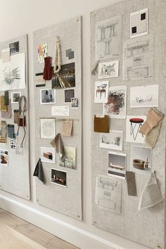 interior design creative The Swooniest Pin-Boards Design Studio Office, Office Interior Design, Office Interiors, Moodboard Interior Design, Interior Design Boards, Art Studio Design, Mood Board Interior, Furniture Design, Cafe Interiors