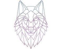 Image result for wolf triangle line drawing