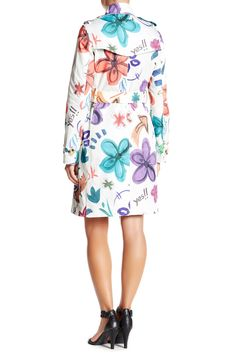 Floral Printed Trench Coat by Desigual on @HauteLook