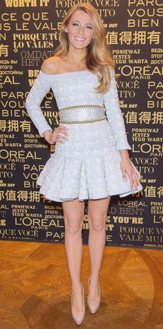 Blake Lively's Red Carpet Style - In Balmain, 2013  - from InStyle.com