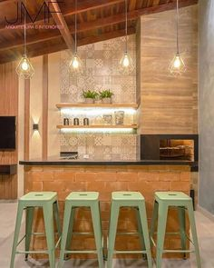 Amazing interior design trends to keep up with, lovely decor for your home! Click the photo to find out more! Decor, House Design, Decor Design, Rooftop Terrace Design, Dining Room Bar, Beach House Kitchens, Home Deco, New Patio Ideas, Trending Decor