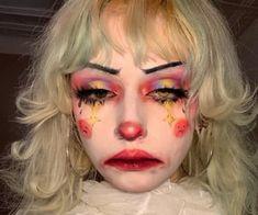 Long time no see, as u CAN SEE I'm a clown now (Also edited eyes no contacts sorry :P) Edgy Makeup, Makeup Inspo, Makeup Art, Makeup Inspiration, Hair Makeup, Makeup Eyes, Cute Clown Makeup, Halloween Face Makeup, Alternative Makeup