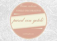 Como colocar un #vinilo decorativo sobre una pared con #gotele en www.bricoydeco.com Blush, Diy, Beauty, Ideas, Home, Manualidades, Recycling, Bricolage, Rouge