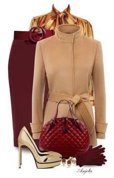 """Something for the Cold"" by anjelakewell ❤ liked on Polyvore featuring Yves Saint Laurent, Glamorous, Gucci, Jaeger, Mimí, Vince Camuto, M&Co, women's clothing, women's fashion and women"