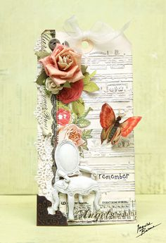 """Shabby Chic """"remember"""" tag *Prima and Sizzix* - Scrapbook.com"""