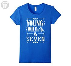 Womens Funny 7th Birthday Shirt Kid T-Shirt Gifts For Boys Girls XL Royal Blue - Birthday shirts (*Amazon Partner-Link)