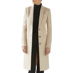 Gucci Wool Coat (2,403,890 KRW) ❤ liked on Polyvore featuring outerwear, coats, alabaster, wool coat, brown coat, gucci, brown wool coat and woolen coat