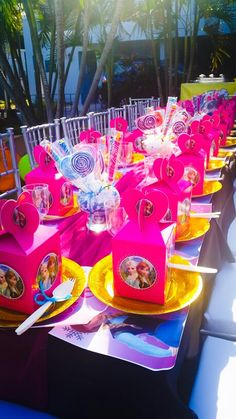 Colorful Frozen Themed Party
